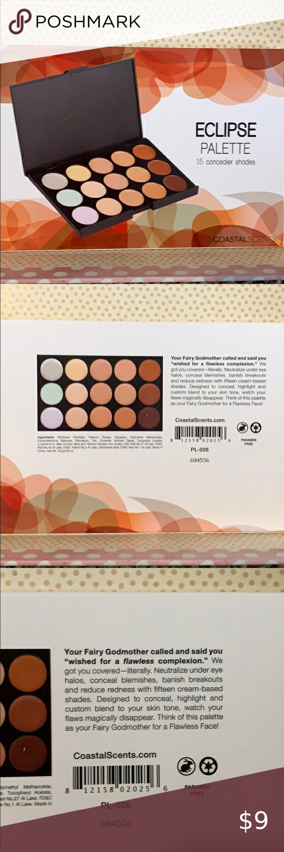 Coastal Scents Eclipse Concealer palette NWT in 2020