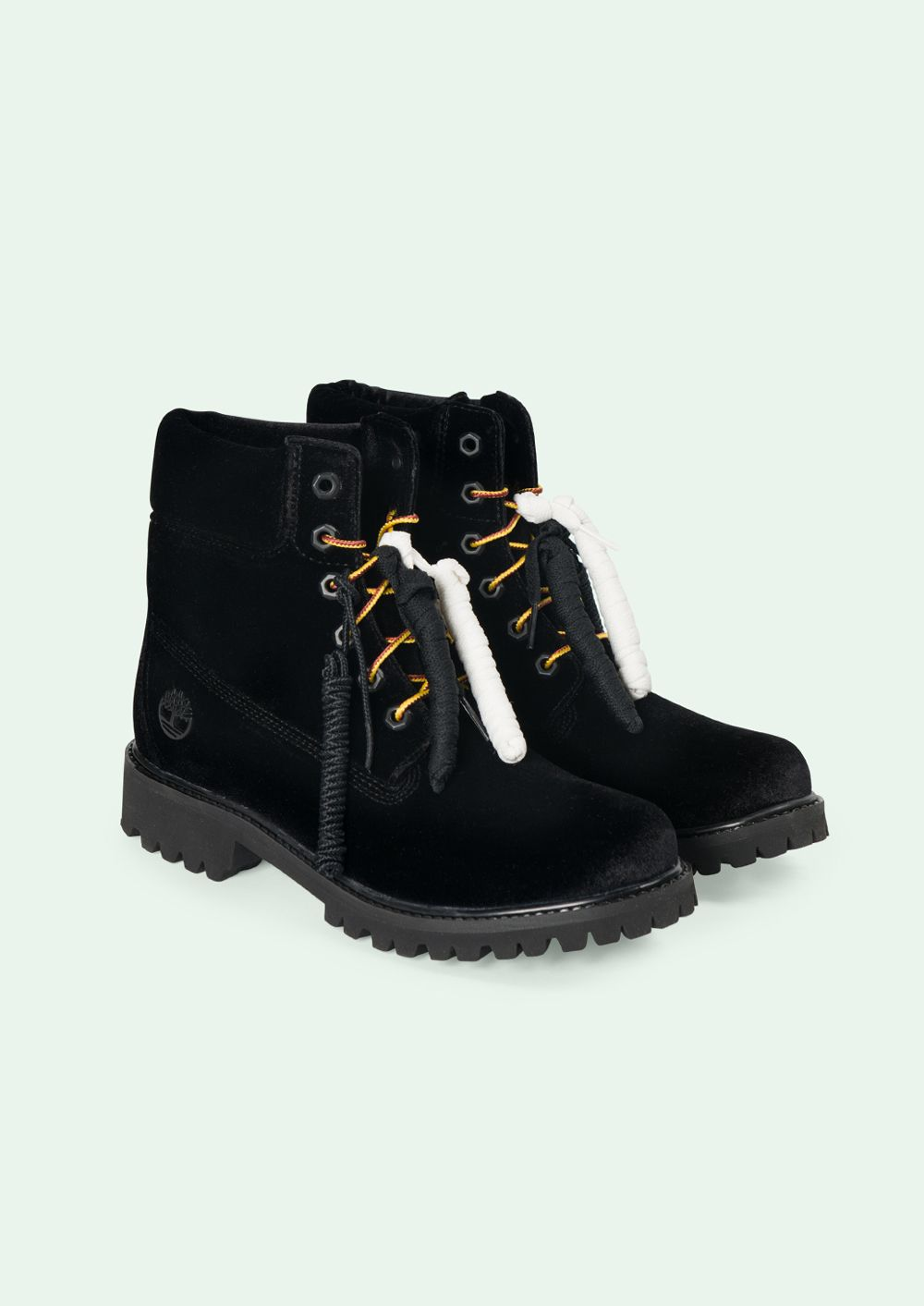 Timberland boots black, Off white shoes