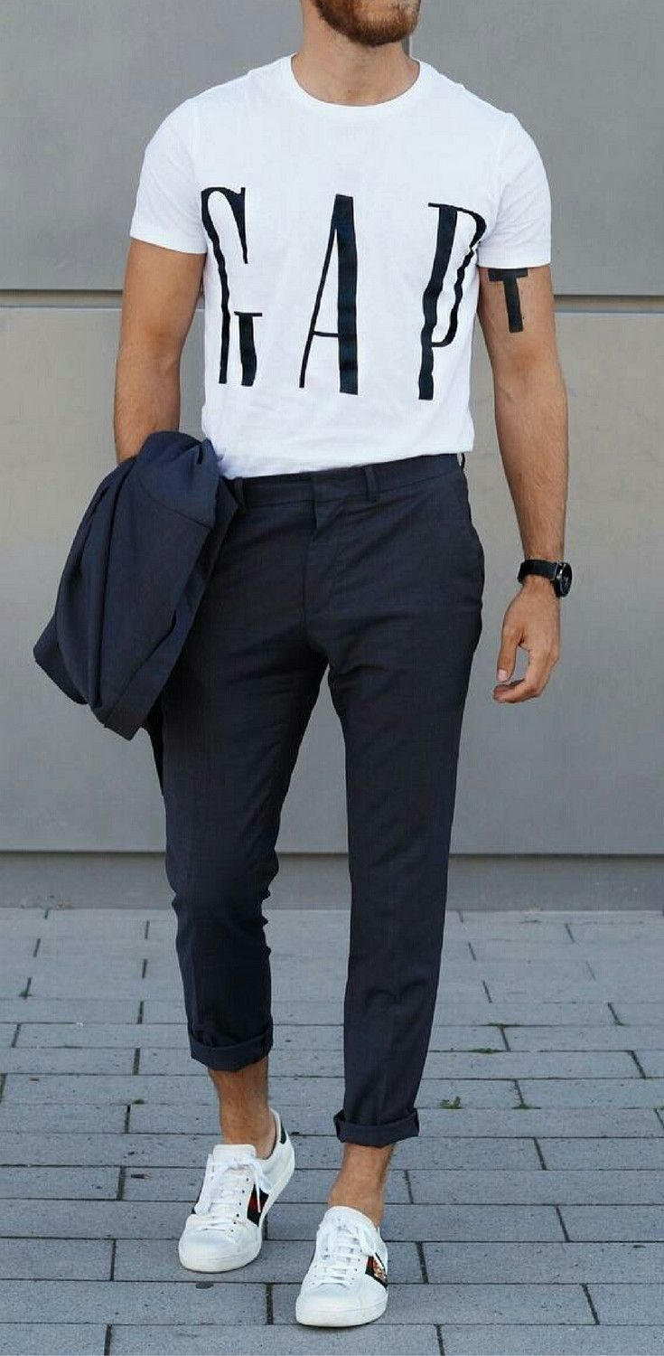 How To Wear White Sneakers For Men Ropa De Hombre