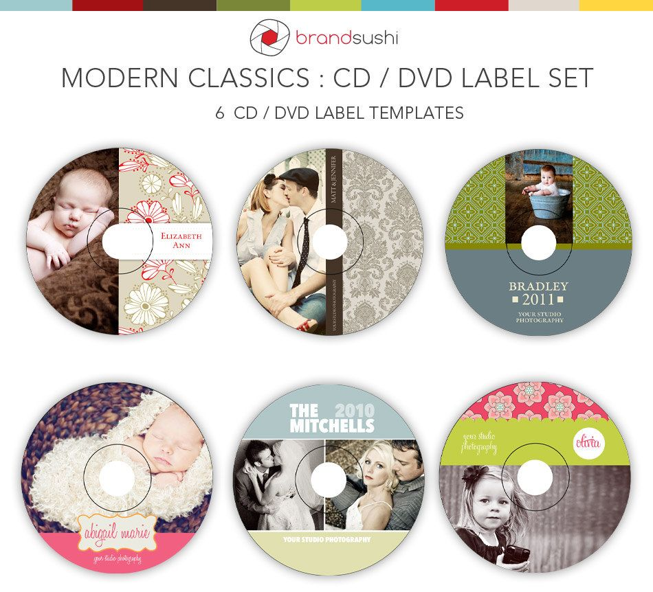 CD & DVD Label Templates