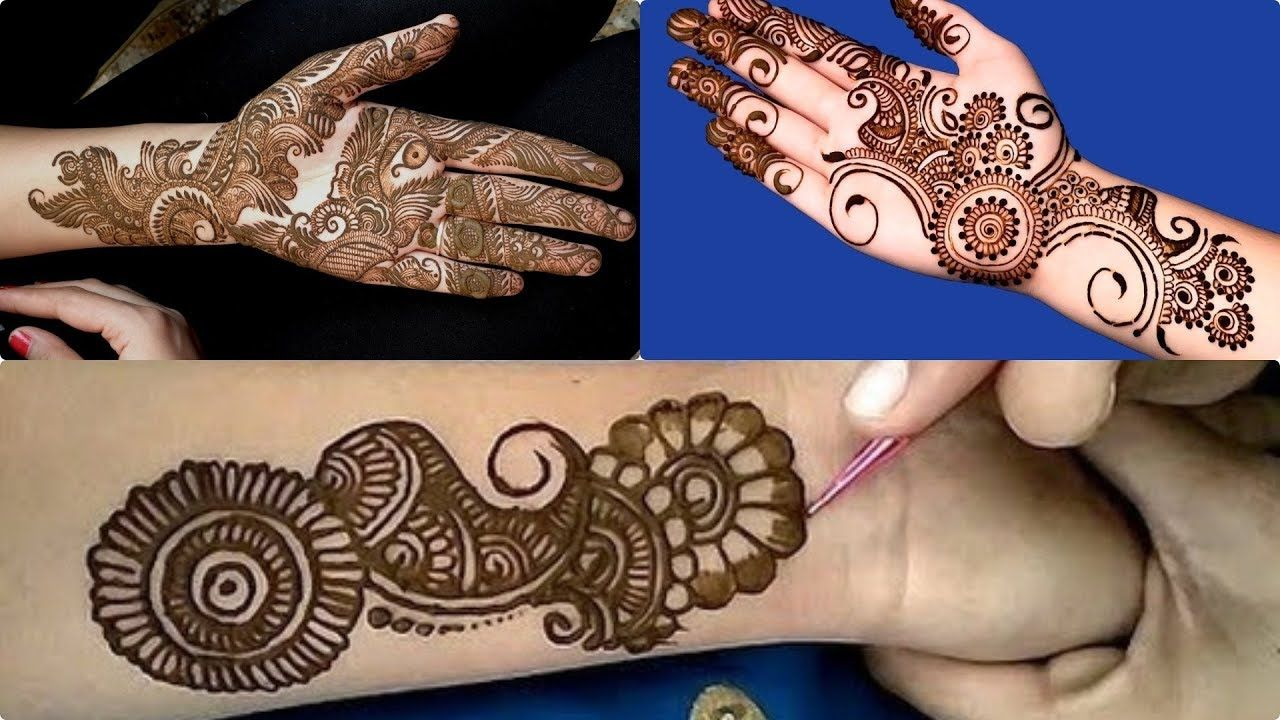Beautiful latest unique arabic mehndi designs for hands stylish  also rh in pinterest