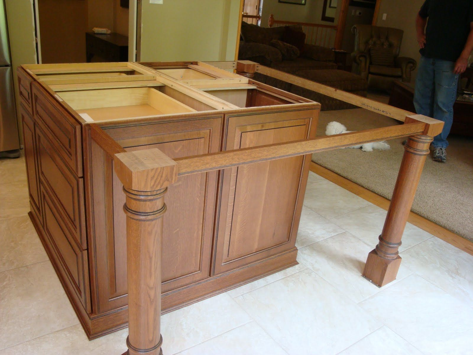 Island Support Legs Building A Kitchen Build Kitchen Island