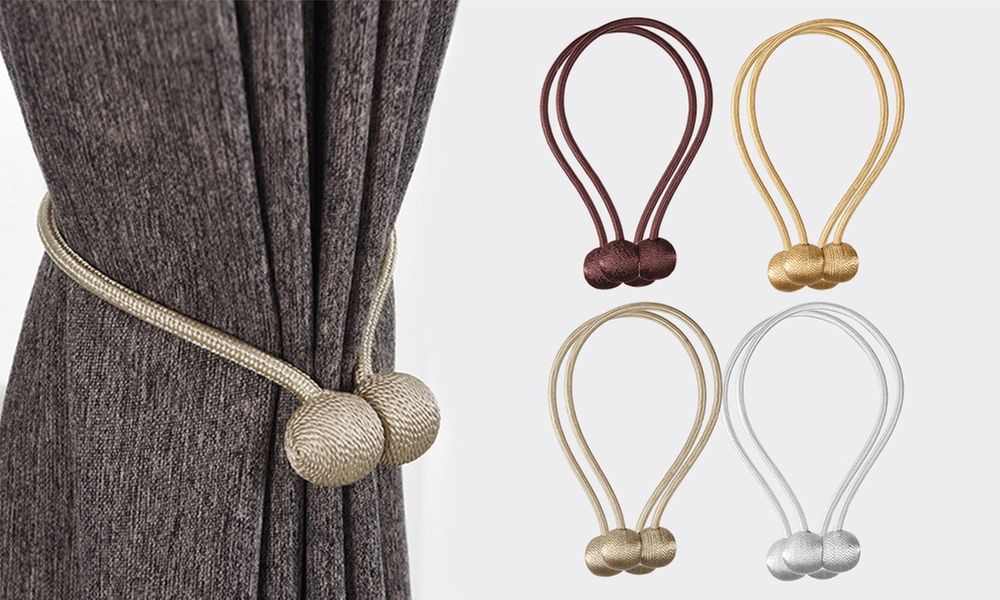 Two Or Four Magnetic Curtain Tiebacks In 2020 Magnetic Curtain