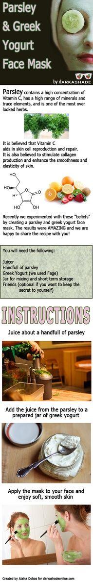Parsley and Greek Yogurt Mask