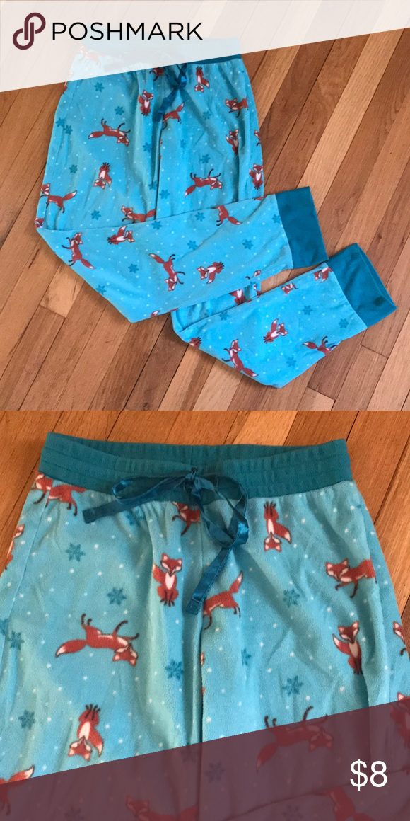 146f6afe07 Fox Flannel Pajama Bottoms Hardly worn pj bottoms with a cute fox pattern.  Color is a little more green than pics. Intimates   Sleepwear Pajamas