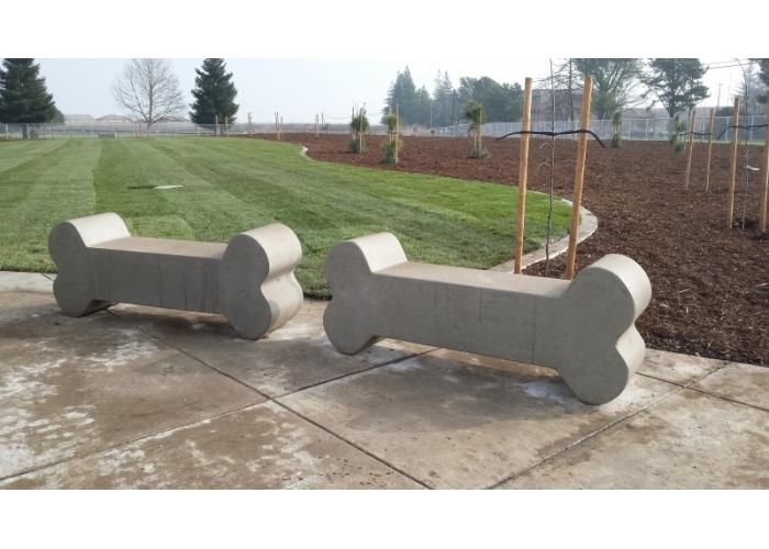 Dog Bone Shaped Benches Very Durable Precast Concrete Great For