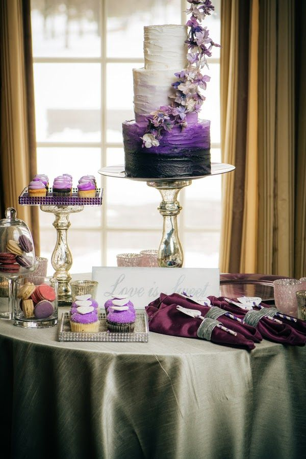 Pantones Radiant Orchid Themed Wedding The Frosted Petticoat