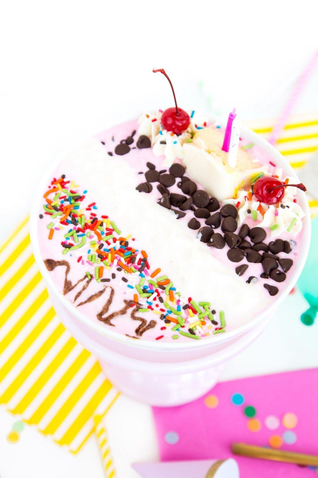Birthday Cake Milkshake Bowl Recipe Icecream Bar