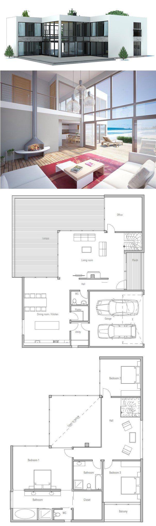 Contemporary Home Ch168 House Plans Contemporary House Plans Modern House Plans