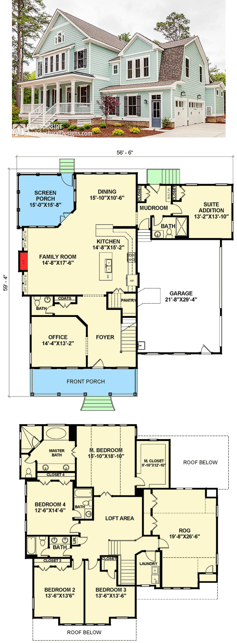 Plan 30081rt Open Floor Plan Farmhouse Open Floor Plan Farmhouse House Plans Farmhouse House Floor Plans