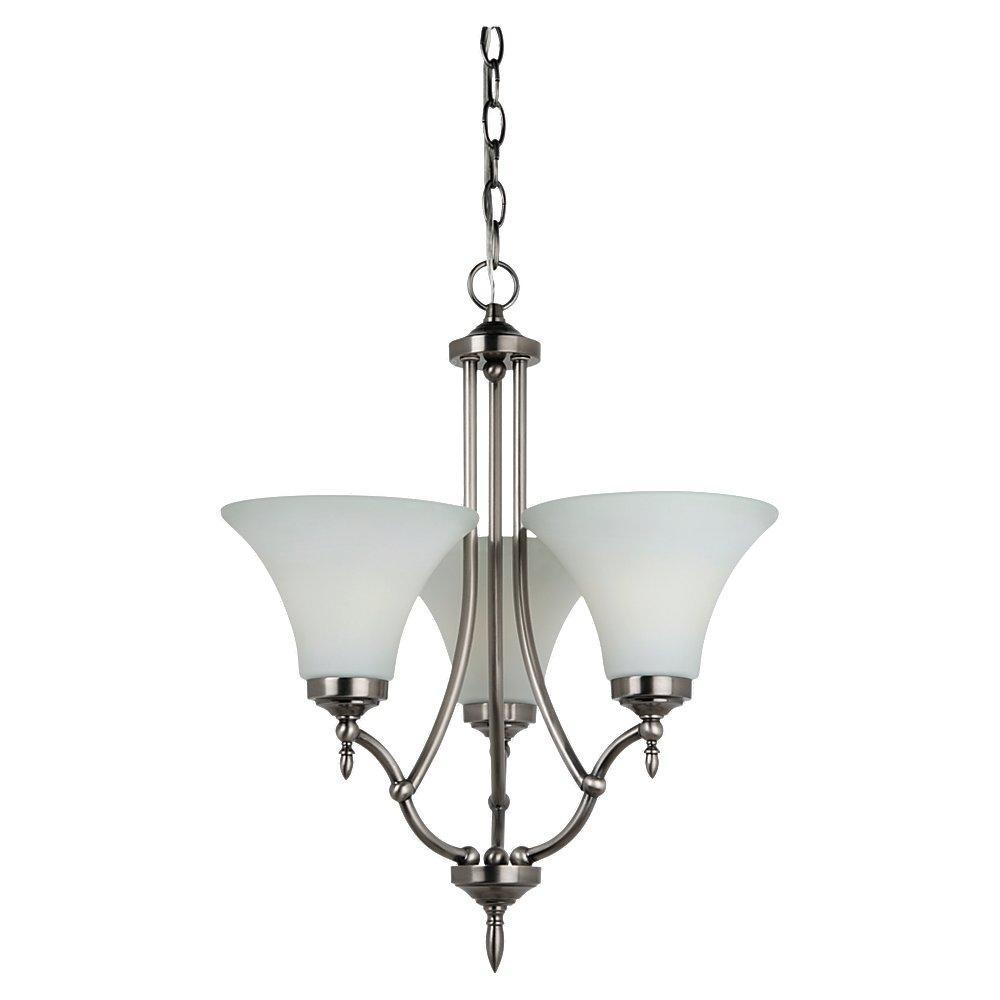 Sea gull 31180 965 montreal three light chandelier in antique sea gull 31180 965 montreal three light chandelier in antique brushed nickel mozeypictures Gallery