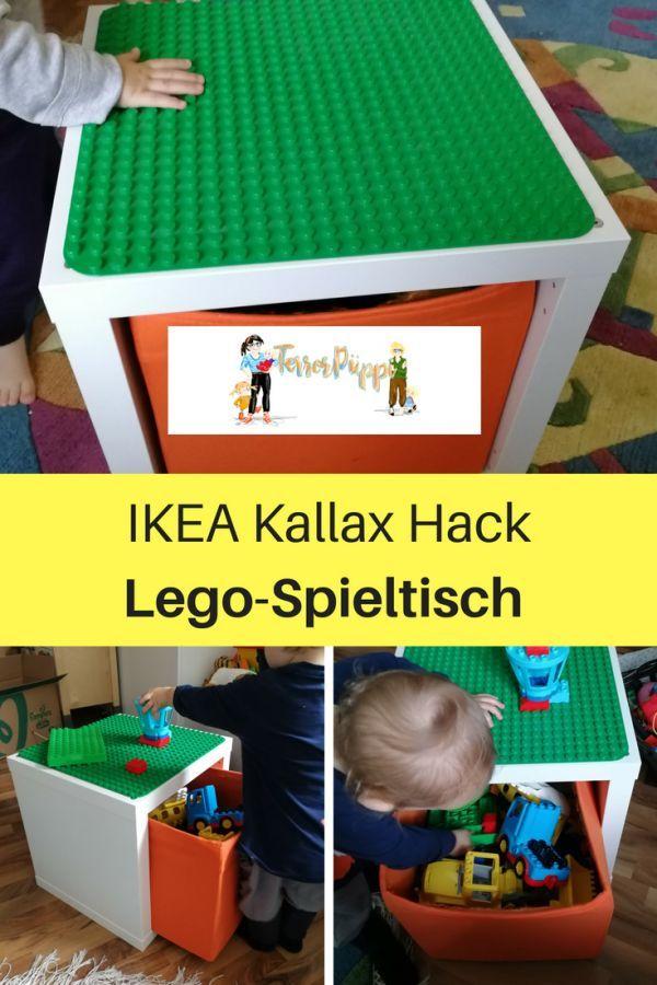 ikea hack f r lego duplo spieltisch kallax diy kids projects pinterest kinderzimmer. Black Bedroom Furniture Sets. Home Design Ideas