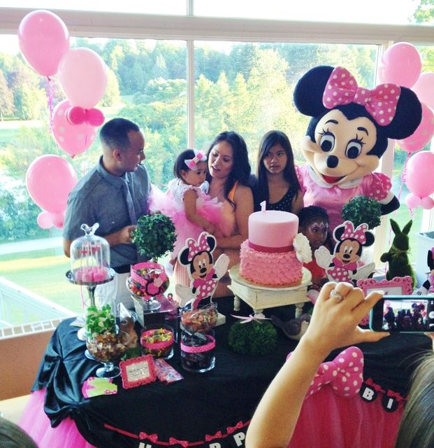 Minnie Mouse Birthday Party Ideas Photo 1 Of 8 Minnie Mouse Birthday Minnie Mouse Birthday Theme Minnie Mouse First Birthday