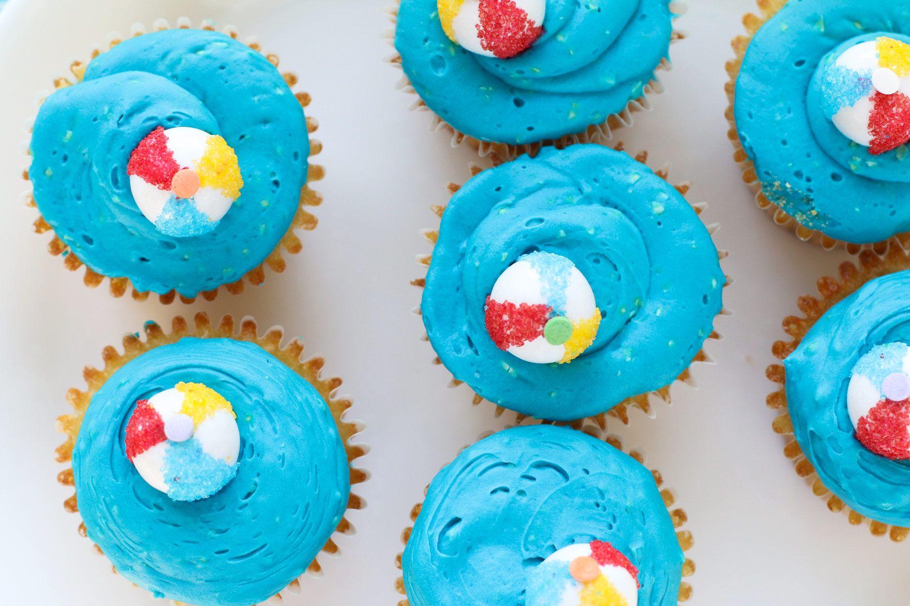 Beach Ball Pina Colada Cupcakes Pina Colada Cupcakes Cupcakes