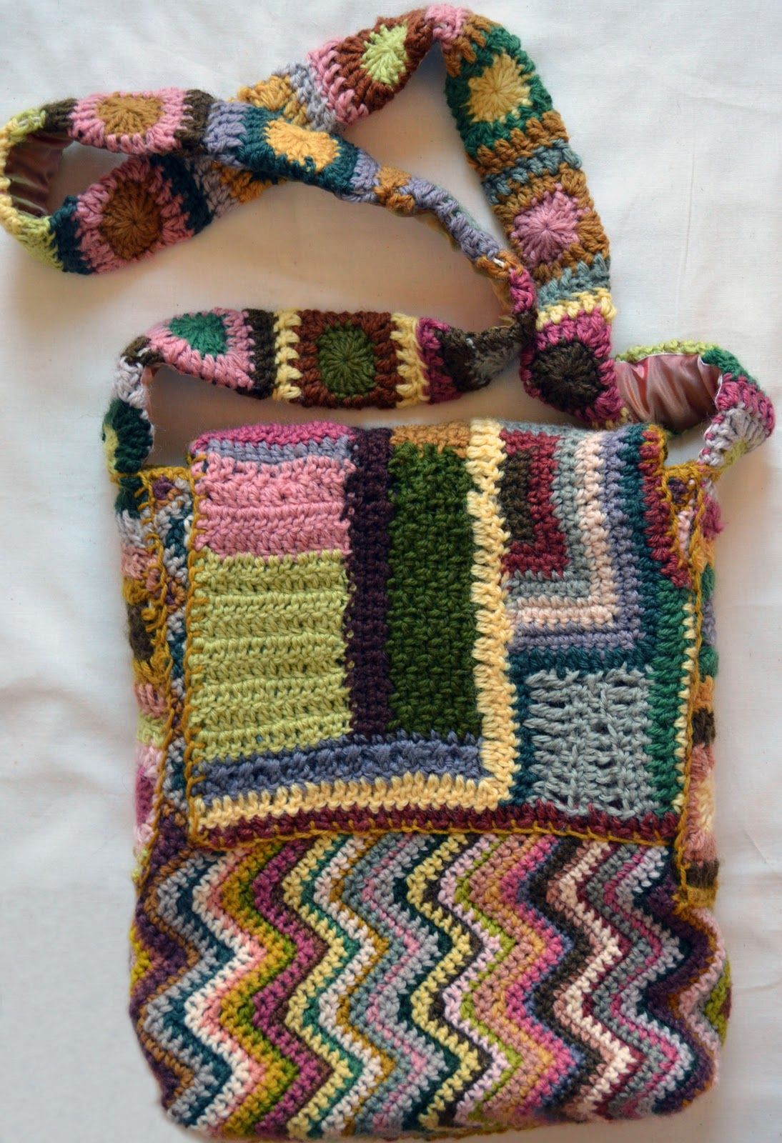Crafting With Style Crocheted Zig Zag u Freeform Bag Crosetat