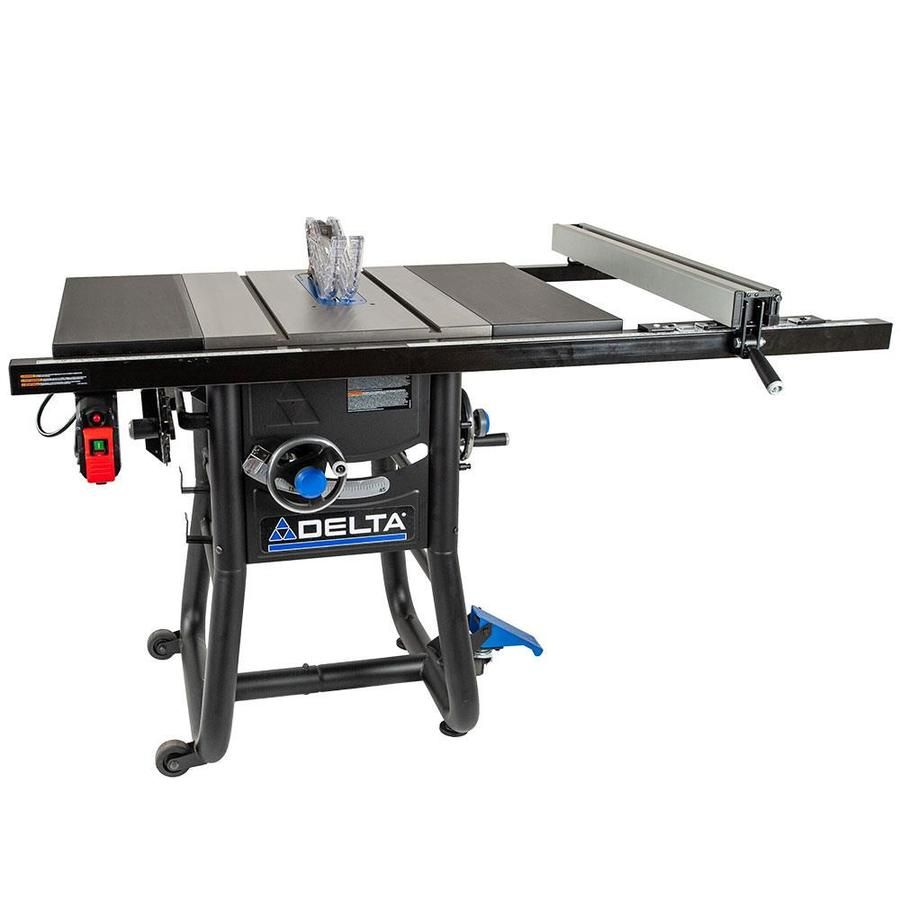 Delta Contractor Saws 10 In Carbide Tipped Blade 15 Amp Table Saw Lowes Com In 2020 Table Saw Diy Table Saw Portable Table Saw