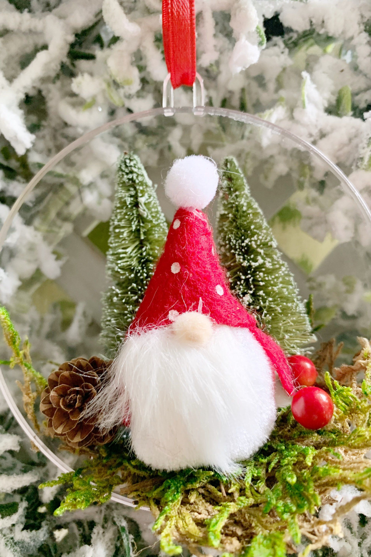 Gnome Christmas Tree Ornament Holiday Decor Bauble Ornament Etsy Holiday Decor Christmas Tree Themes Christmas Tree Ornaments