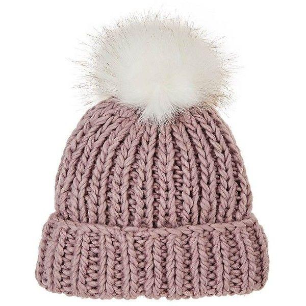 Womens Pom-Pom-Embellished Knitted-Fur Hat Barneys New York kdqhlHYse
