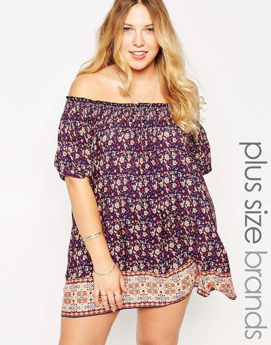 New look inspire printed off the shoulder dress my s show