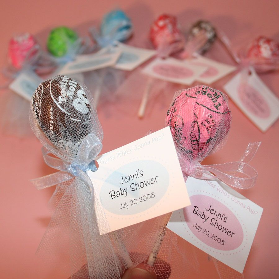Baby Shower Favors And Prizes ~ Quot guess who s gonna pop baby shower party favors tootsie