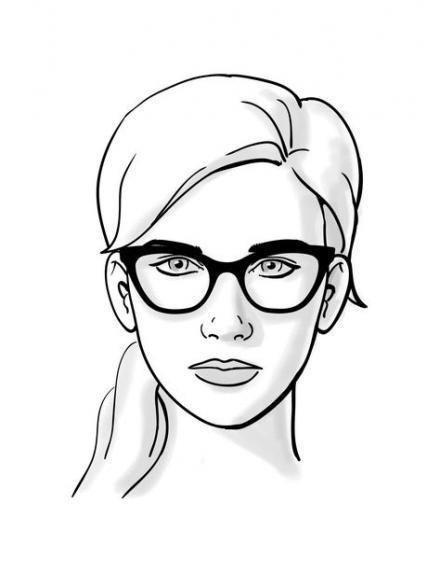 glasses for your face shape diamond eyeglasses