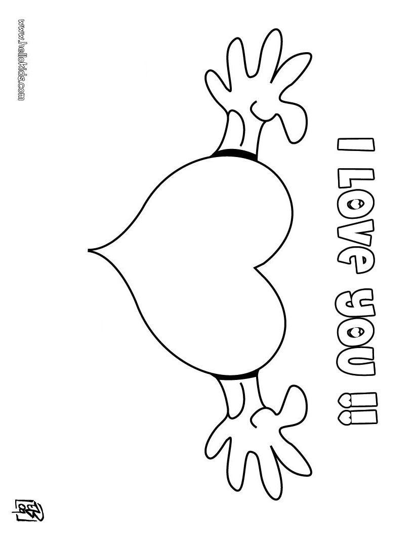 I Love You Coloring Pages Tarot kartenlegen online gratis | www ...