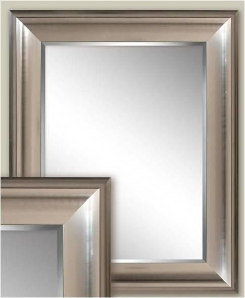 Transitional Brushed Nickel Wall Mirror 2076 Brushed Nickel Bathroom Mirror Bathroom Mirror Frame Mirror Wall