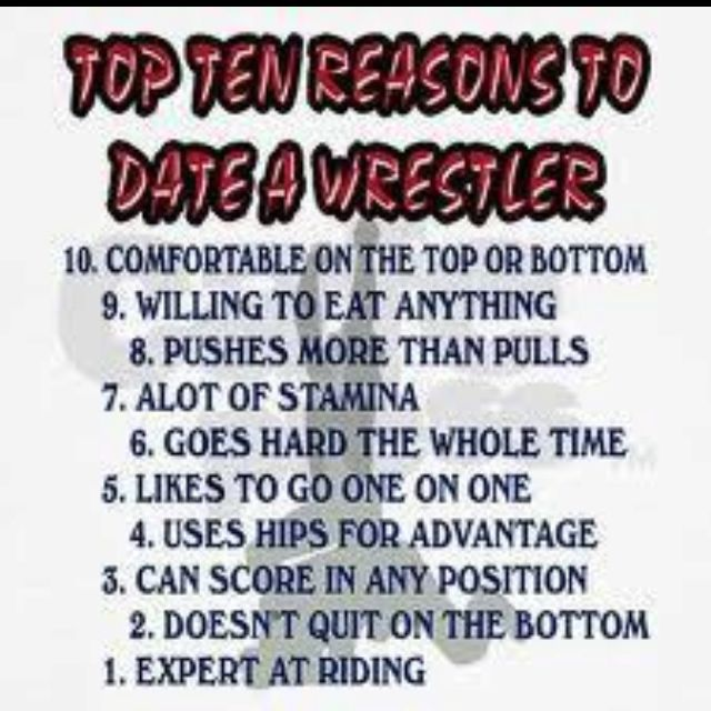 10 reasons to date a wrestler