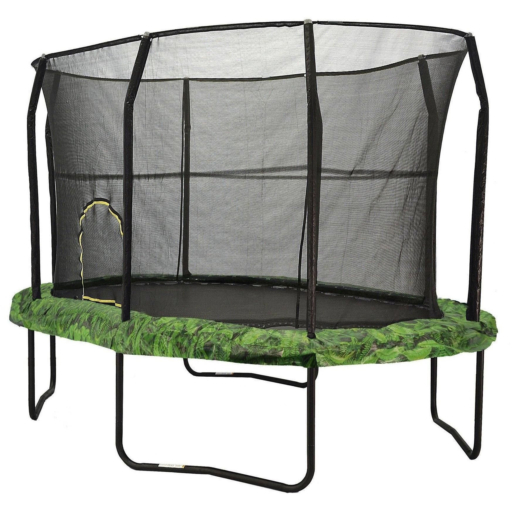 8x12 Oval Trampoline With Enclosure Fern Oval Trampoline Trampoline Backyard Trampoline