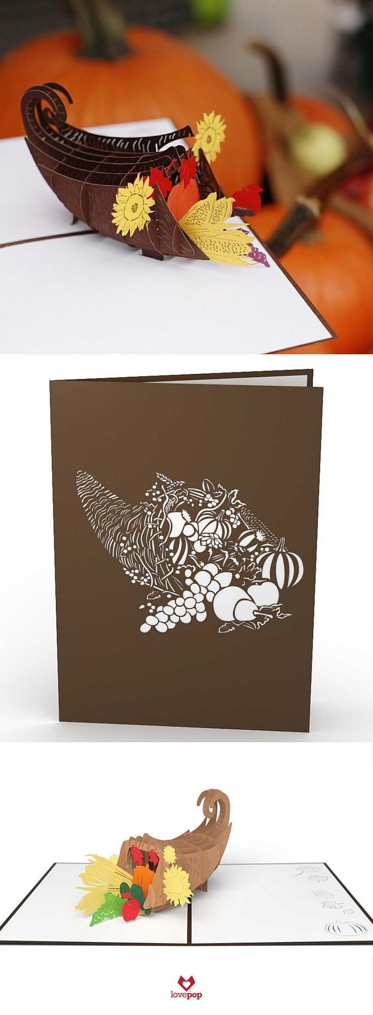 Thanksgiving Cornucopia Pinterest Cards Kirigami And Craft