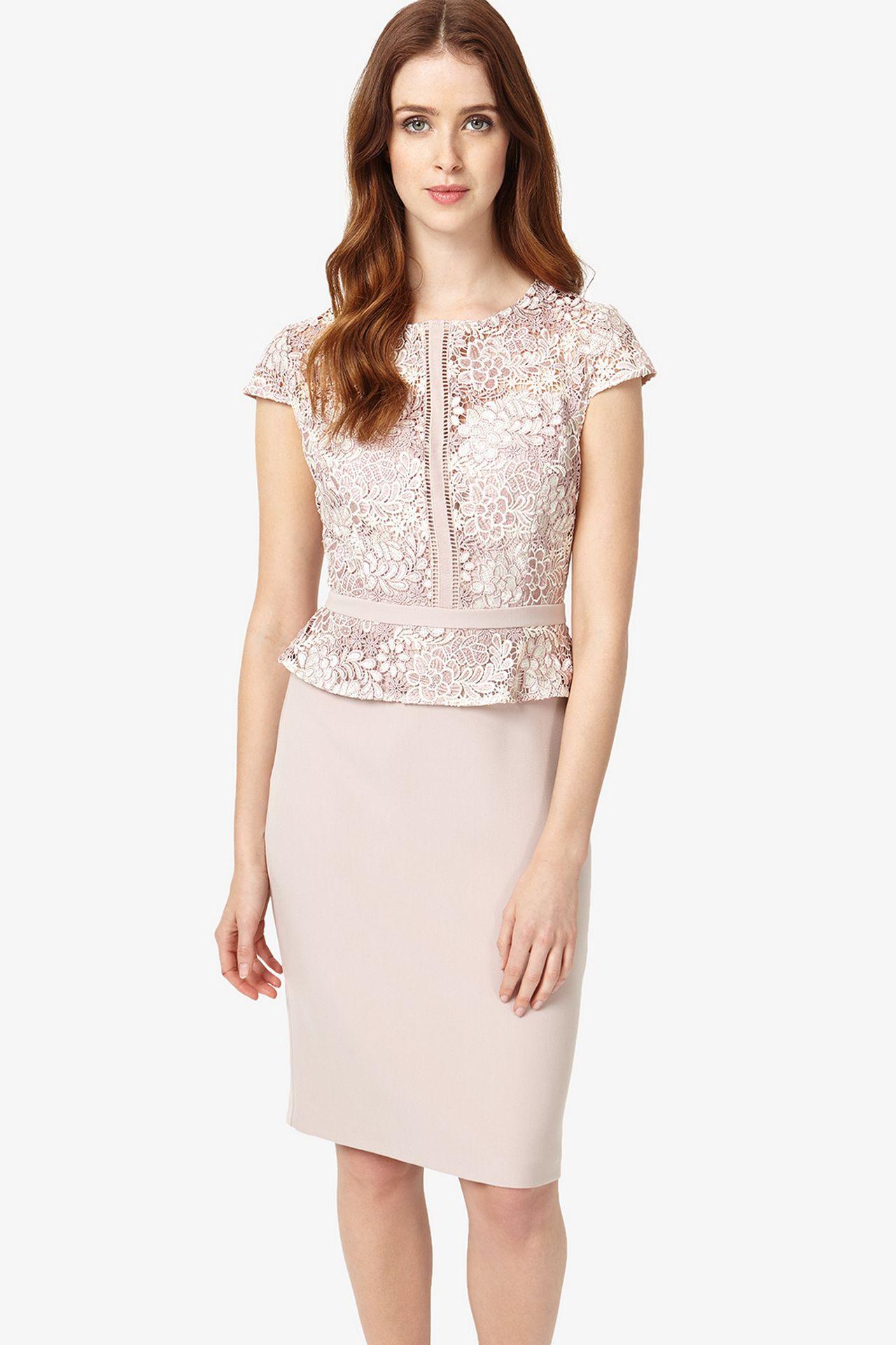 Sheath dresses for wedding guest  jurk met kant en peplum effect  Fashion  Pinterest  Met Vans and