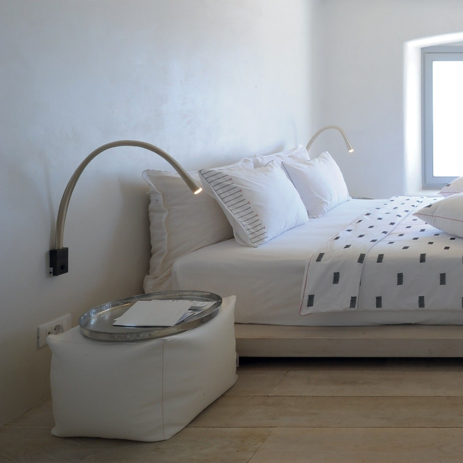 How to Pick a Reading Lamp Leather wall, Modern bedroom
