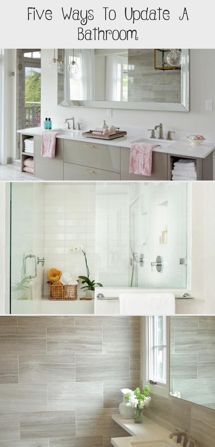 Funf Moglichkeiten Ein Badezimmer Zu Aktualisieren Dekor In 2020 Bad Renovieren Badezimmer Dekor Badezimmer