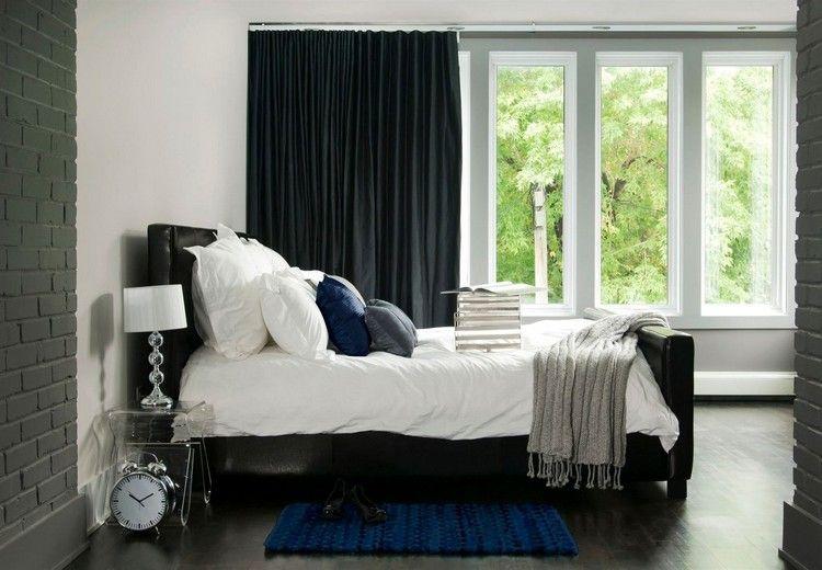Ziegelwand Schlafzimmer Umgestalten Grau Streichen #innendesign #interior  #colors #design