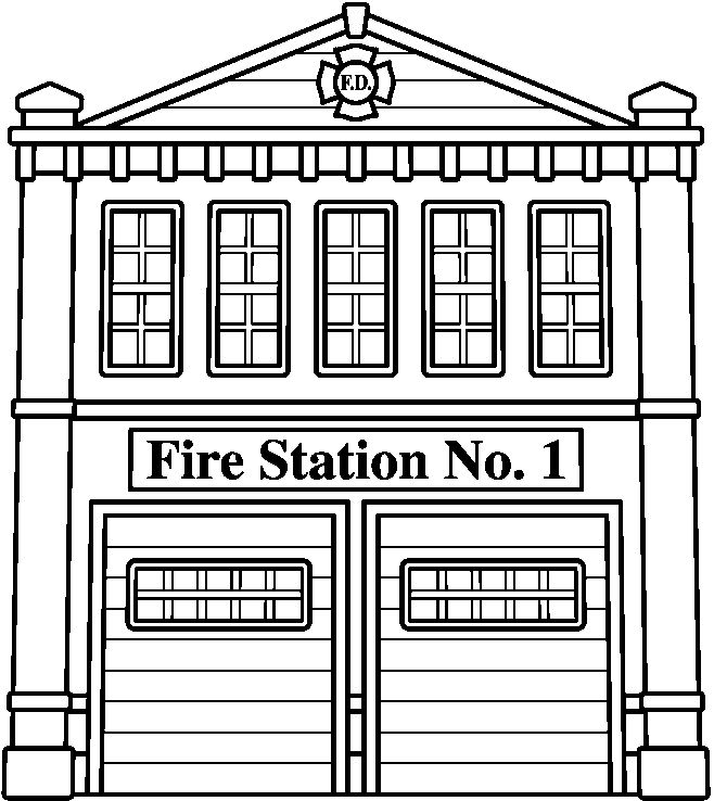 Fire Station Coloring Pages Coloring Pages For Kids Fire Trucks