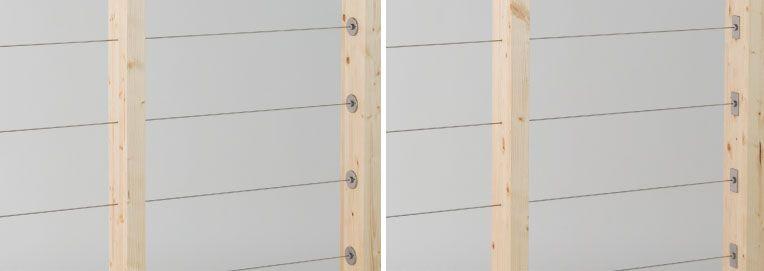 木製支柱用ワイヤー手摺 ウッドテンショナー マツダ金属製作所 手摺 階段てすり 手すり