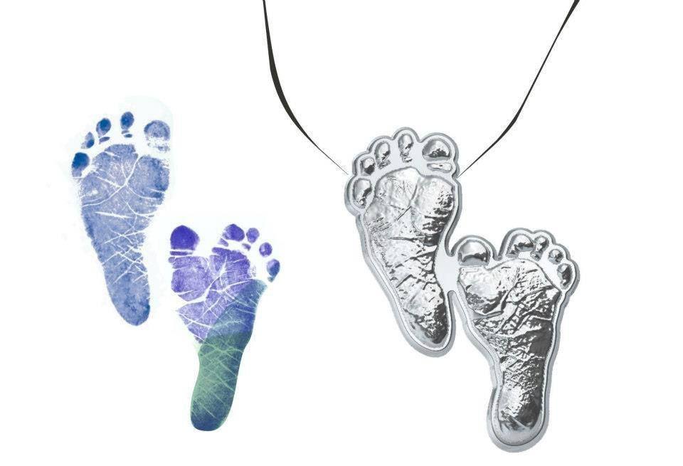 Recordação dos pézinhos do bebê, faça um pingente! Fonte: http://loja.penduribaby.com.br/