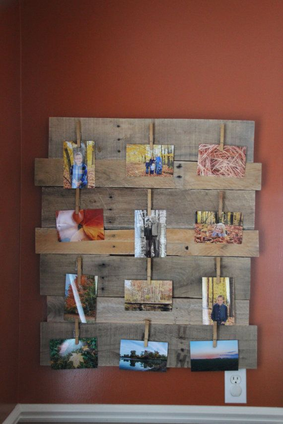 wooden pallet picture frame by Justahobbii on Etsy, $30.00   Home ...