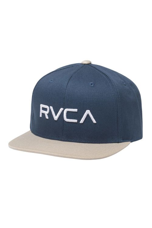 8d2983e6 The RVCA Twill Snapback III is a twill 6-panel adjustable hat with raised  RVCA embroidery at front and a RVCA woven label at the back.