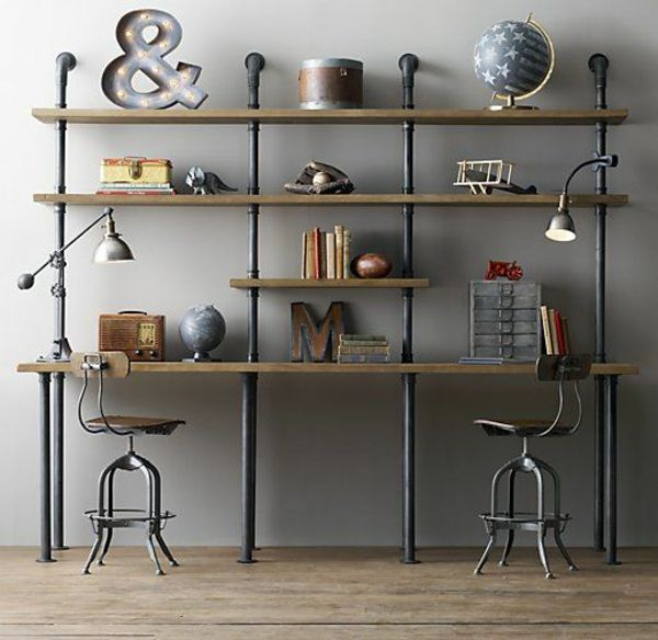 Industrial design m bel f r mehr stil in ihrem wohnraum for Regal industrial style