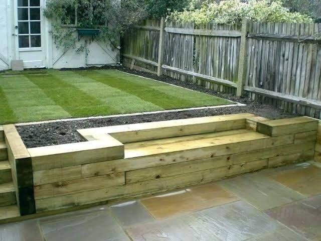 Image result for railway sleeper garden walls | Garden ...
