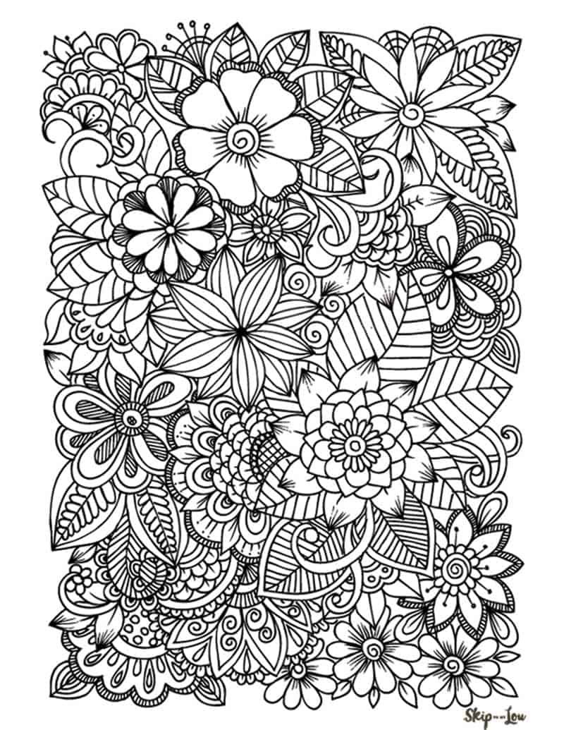 Flower Coloring Pages Coloring Pages For Teenagers Flower Coloring Pages Printable Flower Coloring Pages