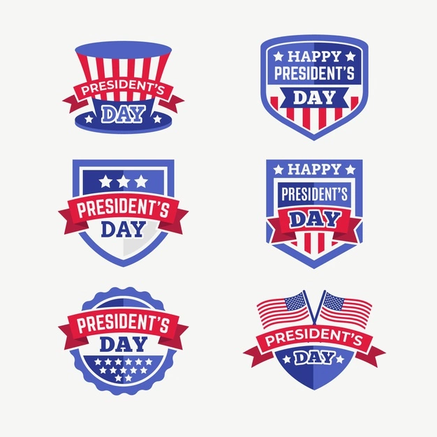 President S Day Badges Collection In 2021 Presidents Day Badge Day
