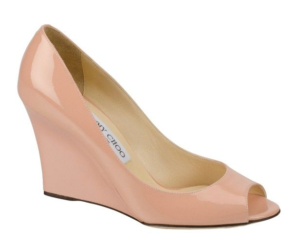 Jimmy Choo Baxen Patent Blush Wedges AED 2250