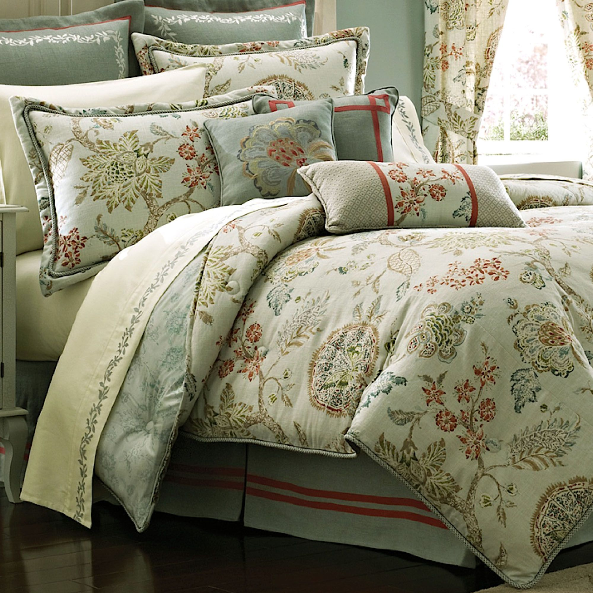 Retreat floral comforter bedding by croscill