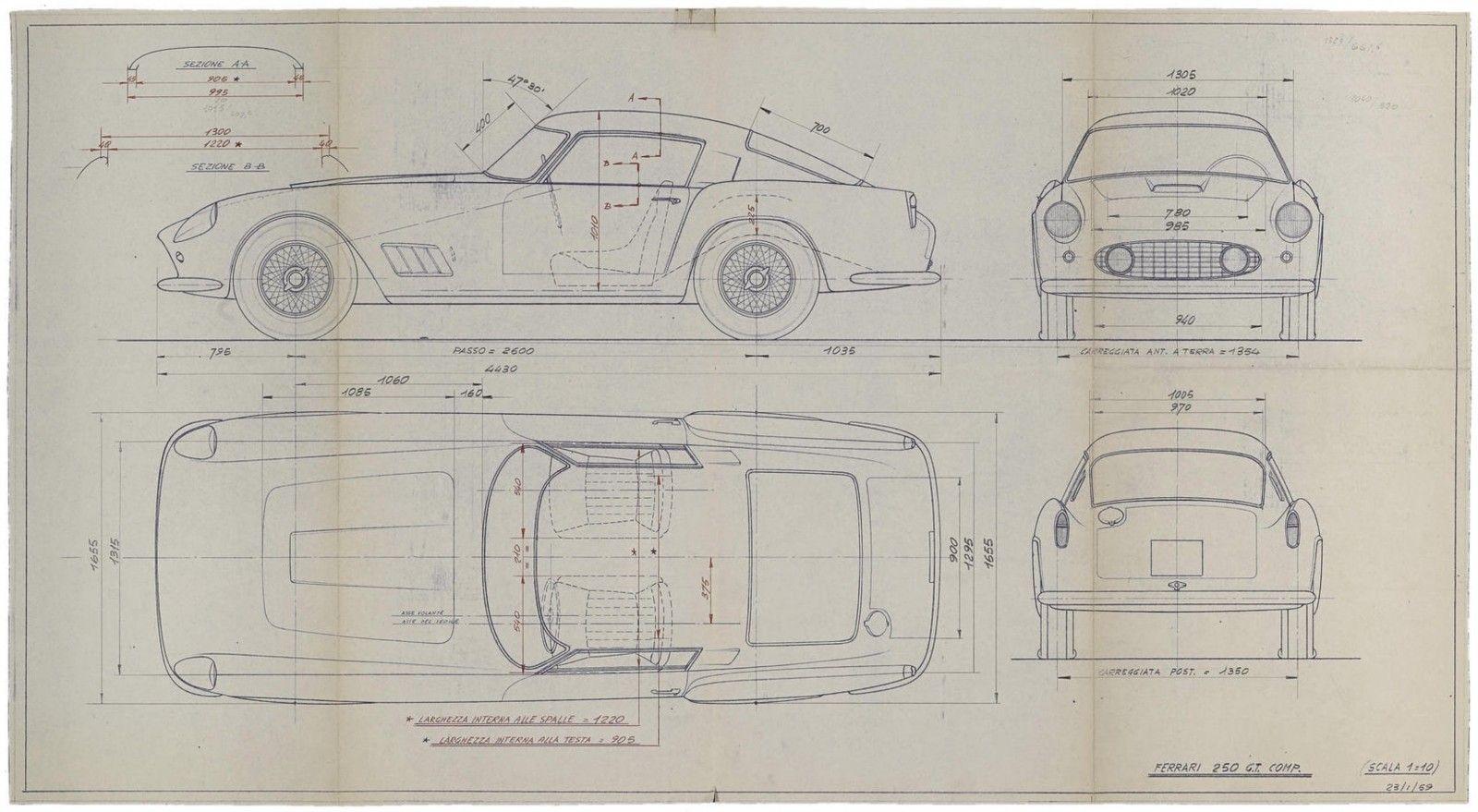 Original ferrari blueprints ferrari automotive art and cars original ferrari blueprints coolest bachelor pad art money can buy airows malvernweather Gallery
