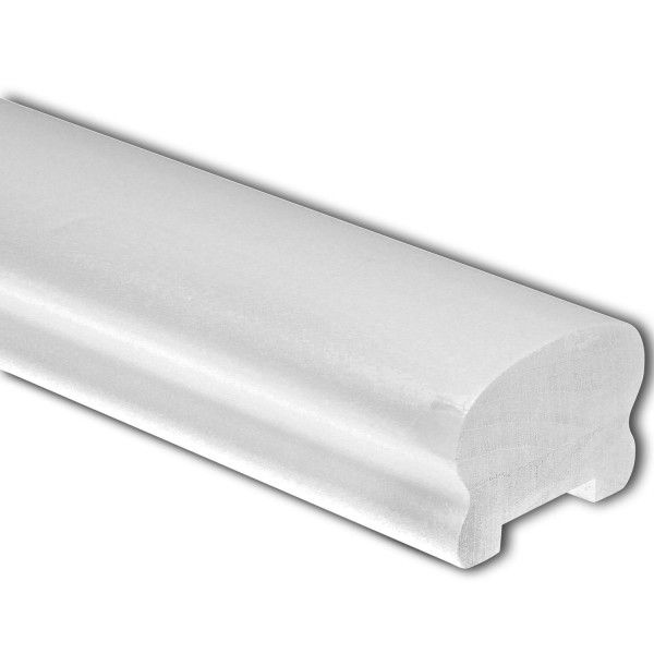 Best White Primed Cottage Loaf Handrail 1 8Mtr 32Mm Groove 400 x 300