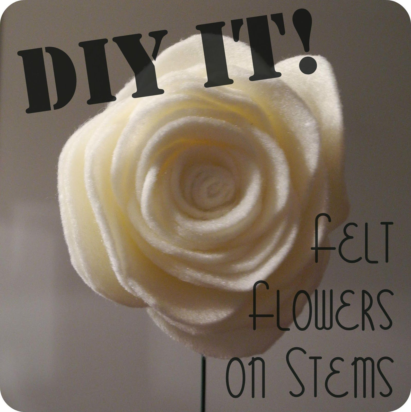 Librarian tells all how to make felt flowers on stems for bouquets librarian tells all how to make felt flowers on stems for bouquets izmirmasajfo