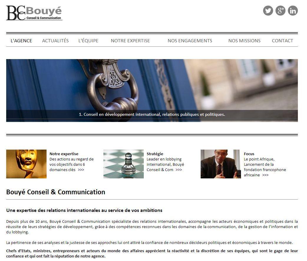 Bouye Conseil Cabinet Specialise Dans Le Conseil En Developpement International Les Relations Publique Relations Publiques Services Aux Entreprises Relations