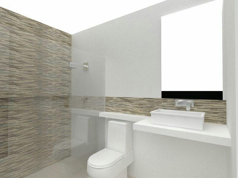 Diseño Baño, blanco mate y porcelanato decorativo diseños - diseos de baos